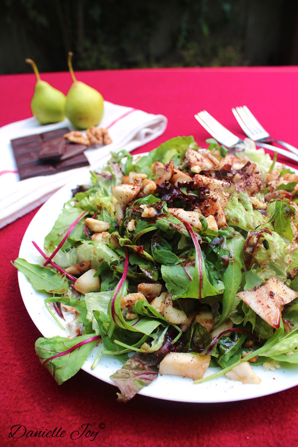 Arugula-Pear Salad with Chocolate Vinaigrette 2