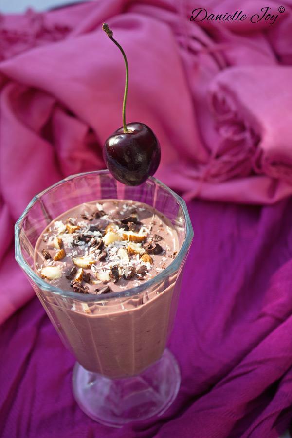 Coconut Almond Cherry Chocolate Smoothie