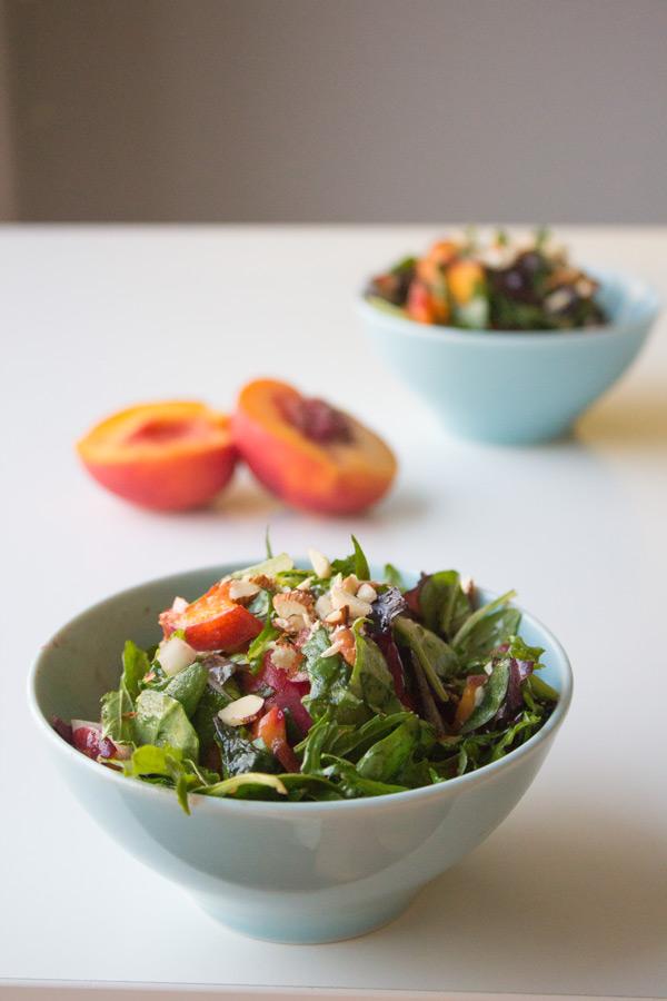 Simple Peach Salad