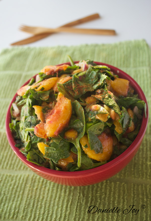 Cinnamon-Spiced-Peach Salad | Danielle Joy
