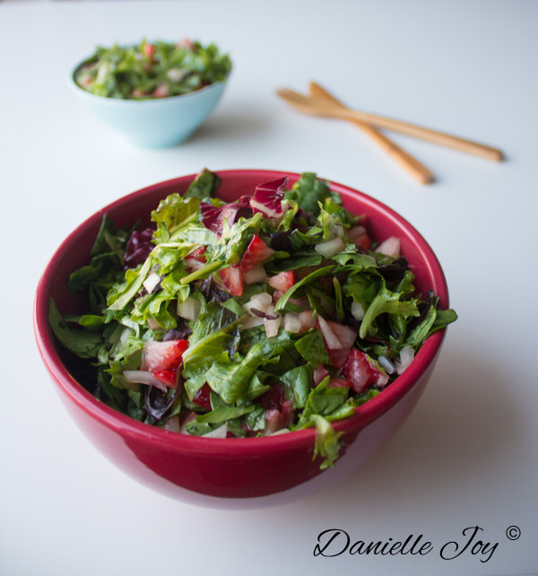 Strawberry Salad with Orange Dressing